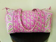 VERA BRADLEY Travel Large Duffel Bag Tote Weekender Gym Bag -Pink Paisley -EUC!!