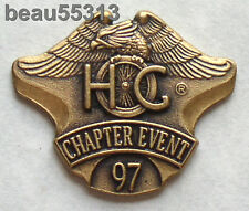 HARLEY DAVIDSON OWNERS GROUP CHAPTER EVENT 1997 HOG VEST JACKET HAT PIN