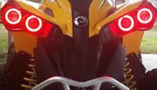 Can-Am Halo Rings for headlights - angel eye set of 4 Canam  Renegade - RED