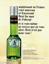 PUBLICITE ADVERTISING 086  1967  Fabergé Brut eau toilette homme