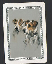 Playing Swap Cards 1 VINT WIDE BRITISH  BLACK & WHITE  WHISKY  ART TERRIERS #8