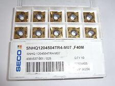 NEU 10 SECO SNHQ1204504TR4-M07 F40M mit Rechnung Wendeplatten