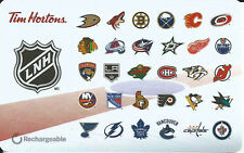 TIM HORTONS NHL HOCKEY LOGO 2016 FRENCH MINT GIFT CARD RECHARGEABLE