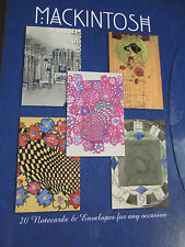 Charles Rennie Mackintosh Art Nouveau 20 Boxed Notecards & Envelopes Plain