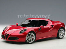 AUTOart 70186 ALFA ROMEO 4C COMPOSITE 1/18 DIECAST MODEL CAR RED