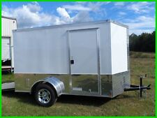 6x10 2 ft v nose 12 inside cargo enclosed Motorcycle Package trailer New ready