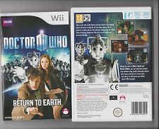 DOCTOR WHO RETURN TO EARTH NINTENDO WII DR WHO