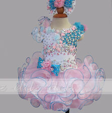 Mini/Cupcake Dress Girls Infant Toddler Kids Party Pageant Gown Formal Party0-8T