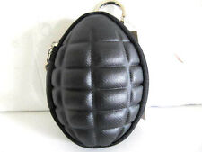 Hand Grenade Coin Change Purse Keychain Zipper Black Key Purse Bag Case Fashion