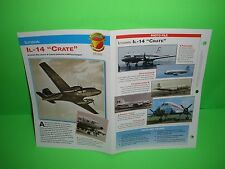 "ILYUSHIN IL-14 ""CRATE"" AIRCRAFT FACTS CARD AIRPLANE BOOK 134"