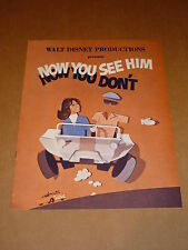 """Walt Disney's """"Now You See Him/Now You Don't"""" 1972 Campaign Book (Kurt Russell)"""