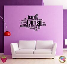 Wall Sticker Adventure Travel Message Words Quotes z1349