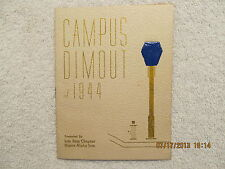 1944 Booklet Murray State College Campus Dimout Musical Review Sigma Alpha Iota