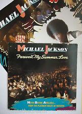 MICHAEL JACKSON ~ Farewell My Summer Love ~ VINYL LP + POSTER