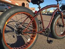 NEW Sikk 3 SPEED�� Fat Tire Beach Cruiser Bike �� ALL COPPER SE