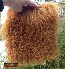 M00438 MOREZMORE Tibetan Lamb Fur 8 x 8 Pelt BROWN SUGAR OOAK Doll Baby Hair T20