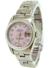 Rolex Datejust Ladies Pink Mother of Pearl Diamonds Quick-Set 26mm