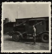 photo-Hanomag SS 100-Straßenschlepper-Wehrmacht-sd.kfz-Transport