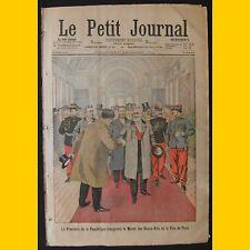 LE PETIT JOURNAL Supplt illustré Enlèvement moderne jeune fille 21 décembre 1902