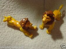 "LOT OF 2 DISNEY LION KING  POSEABLE  PVC  3.5""  X 5""    FIGURES  PLAY TIME FUN"