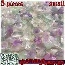 5 Small 10mm Free Ship Tumbled Gem Stone Crystal Natural - Fluorite