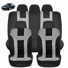 NEW GRAY & BLACK POLY AIRBAG READY SEAT COVERS COMBO 9PC SET FOR CARS 2124