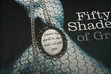 Personalised Necklace Pendant Quote Fifty Shades of Grey Keepsake Gift