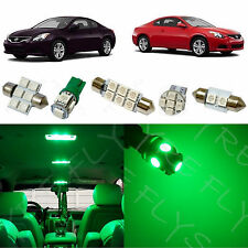 8x Green LED lights interior package kit for 2008-2013 Nissan Altima Coupe NA2G