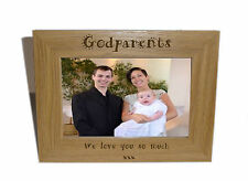 Godparents Wooden Photo Frame 6 x 4 - Personalise this frame - Free Engraving