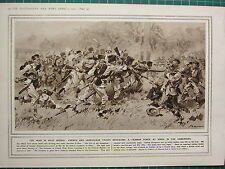 1915 WWI WW1 PRINT ~ FRENCH & SENEGALESE TROOPS DEFEATING GERMAN FORCE EDEA