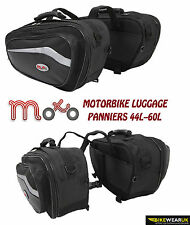 MOTORCYCLE BIKE LUGGAGE EXPANDABLE SPORTS STORAGE MOTO PANNIERS PAIR SADDLE BAG