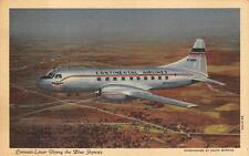 CONTINENTAL AIRLINES CONVAIR LINER AIRPLANE AVIATION ADVERTISING POSTCARD