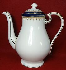 AYNSLEY china LEIGHTON-COBALT Smooth pattern Coffee Pot & Lid - Factory 2nd