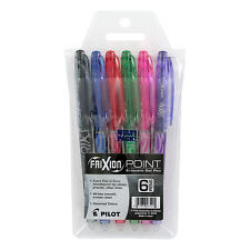 """Pilot Frixion Point Erasable Gel Ink Stick Pen, Assorted Inks, .5mm, 6/pack"""