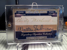 CHRISTY MATHEWSON WALTER JOHNSON  2015 DUAL CUT AUTO PROTOTYPE DISPLAY PIECE