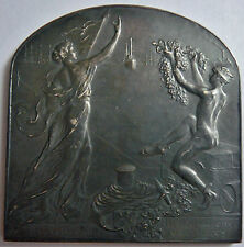 Medaille Argente Installation Maritime Bruxelles DEVREESE Silvered Medal 1914