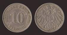 GERMANIA GERMANY 10 PFENNIG 1908 A