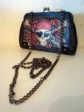 ISABELLA FIORE RARE BURIED TREASURE TATTOO LEATHER CLUTCH BAG