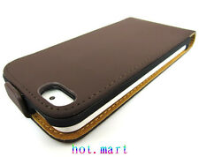 Hot Newest case simple classic Leather Case Pouch for Apple iPhone 5 5G 5S
