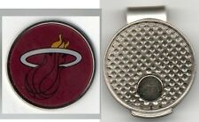 """Miami HEAT 1"""" Golf Ball Marker with Hat Clip NBA Officially Licensed"""