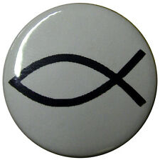 Jesus Fish 25mm (1 inch) Badge, Christian Religious symbol badges