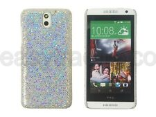 Silver Shiny Sparkling Sequin Cover Case for HTC Desire 610 + Screen Protector