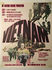 Vintage Blacklight Poster Vietnam Faux Movie Spoof Joke Nixon LBJ Anti war Peace