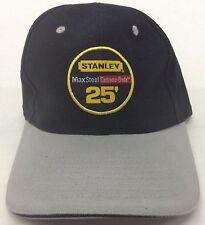 """Stanley Structured """"Max Steel 25' Contractor Grade"""" Buckle-Back Work Cap Hat NEW"""