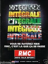 Publicité advertising 2012 Radio RMC Info Talk Sport