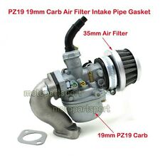 PZ19 Carb 19mm Carburetor Intake Pipe Air Filter 50cc-110cc Quad ATV Taotao Sunl