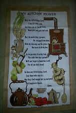 VINTAGE ULSTER WEAVERS LINEN TEA CLOTH OF KITCHEN PRAYER NEW CONDITION