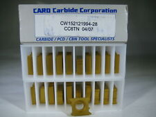 LOT ( 20 ) THREADING CW152121994 GROOVING CARBIDE LATHE TURNING INSERTS TOOL BIT