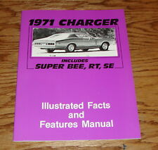 1971 Dodge Charger Illustrated Facts Features Brochure Manual 71