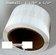 2500 Barbell Butterfly Direct Thermal Polypropylene Jewelry Label Write/ BarCode
